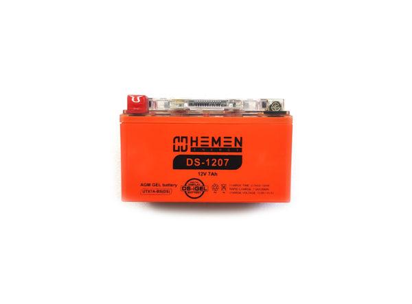 Аккумулятор 12 вольт 7Ач Hemen Energy с цифровым индикатором заряда DS-1207 для скутеров и другой мото техники