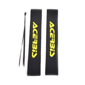Чехлы защитные для перьев питбайка 37см Желтые буквы