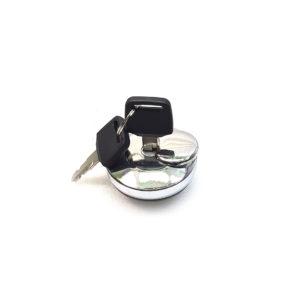 Крышка топливного бака Дельта с ключом хром