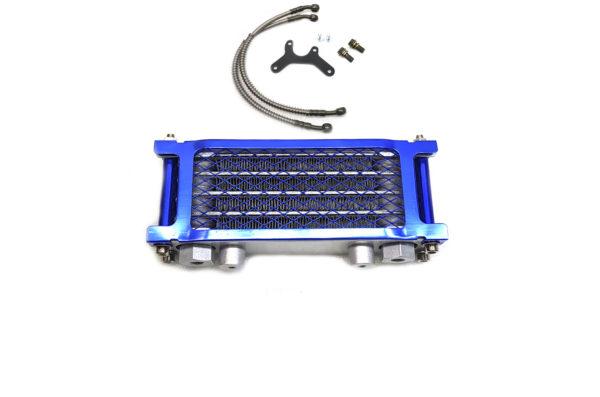 Масляный радиатор для питбайка в сборе Синий