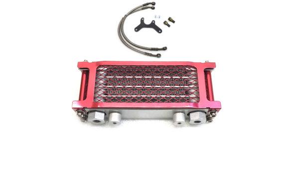 Масляный радиатор для питбайка в сборе Красный