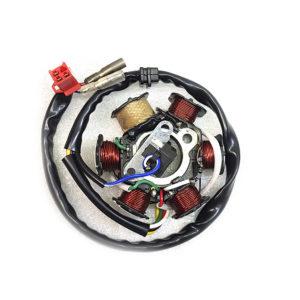 Статор на скутер 157QMJ 6 катушек (5+1) 5 проводов (3+2) 125-150 кубов