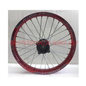 Колеса питбайк диск 17 радиус Передний Красный