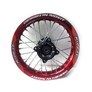 Колеса питбайк 12 радиус ось 15мм Красное