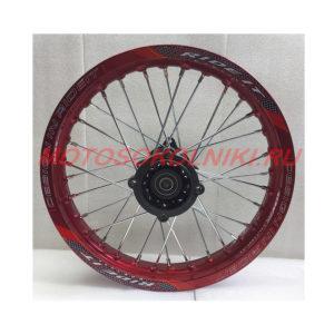 Колесо питбайк диск 14 радиус ось 15мм Красное