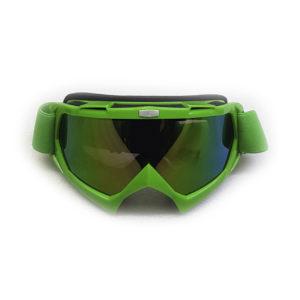 Очки для мотокросса зеленые Тонированные