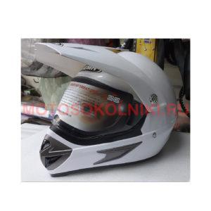 Кроссовый шлем Yema с визором Белый