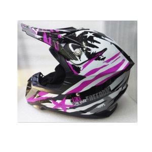 Кроссовый шлем Yema Черно-фиолетовый