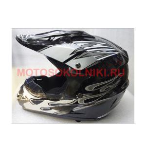 Кроссовый шлем Falcon Детский Черно-серый