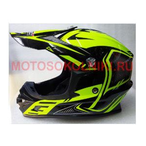 Кроссовый шлем Safebet Черно-зеленый