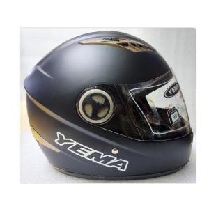 Шлем мото с визором YEMA Черный Матовый