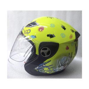 Мото шлем Yema Открытый с визором Желтый Inter