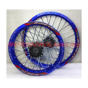 Колеса питбайк диски 14 и 17 радиус Комплект Синий